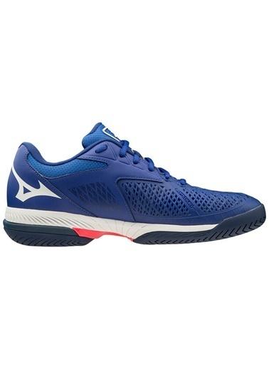 Mizuno Wave Exceed Tour 4 AC Unisex Tenis Ayakkabısı Mavi Mavi